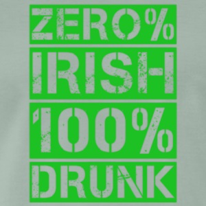 zero% Irish, 100% drunk - Men's Premium T-Shirt