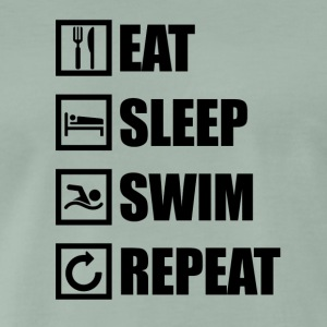 Eat Sleep SWIM REPEAT - Maglietta Premium da uomo