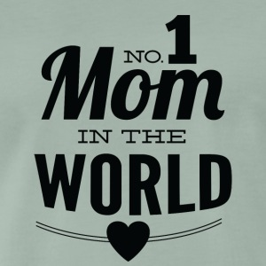 number 1 mom in the world white - Men's Premium T-Shirt
