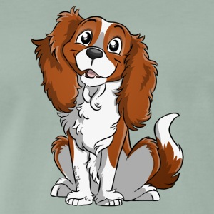 Cavalier King Charles - White Fire - Men's Premium T-Shirt