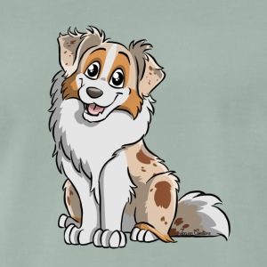Red Merle Australian Shepherd - Men's Premium T-Shirt
