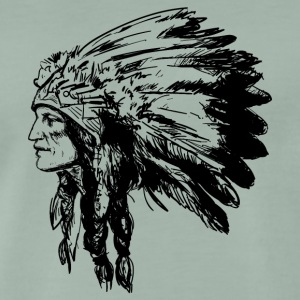 Indian ansikte American Illustration - Premium-T-shirt herr
