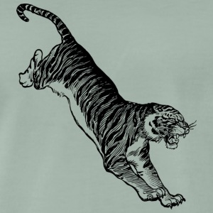 Tiger africa black and withe - Men's Premium T-Shirt