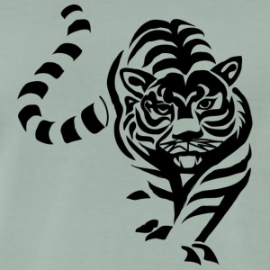 Tiger black and withe - Männer Premium T-Shirt