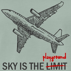 Pilot: Sky is the Limit or the Playground - Men's Premium T-Shirt