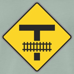 Road Sign trein weg t - Mannen Premium T-shirt