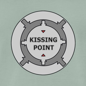 Kissing Point Grey - Premium-T-shirt herr