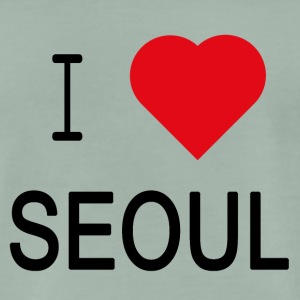 I Love SEOUL - Premium T-skjorte for menn