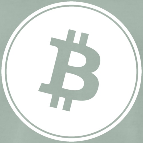 Bitcoin in White Transparent. - Männer Premium T-Shirt