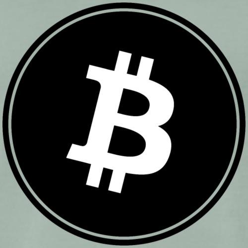Bitcoin in Black color. - Männer Premium T-Shirt