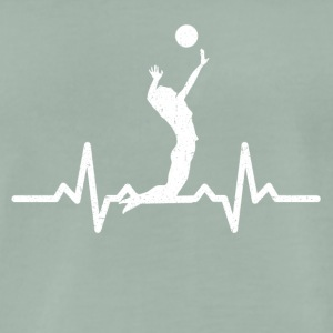 My heart beats for Volleyball - Men's Premium T-Shirt