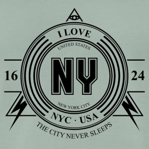 New York Badge - Premium T-skjorte for menn