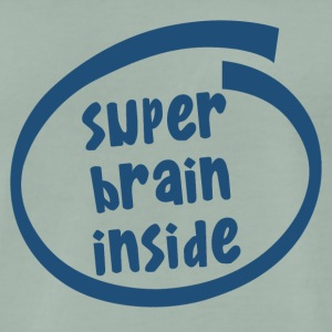 super brain inside (1846C) - Männer Premium T-Shirt