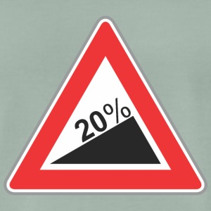 Road Sign 20 procent vinkel - Herre premium T-shirt