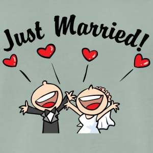 Just Married In Love - Premium T-skjorte for menn