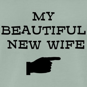 Just Married My Beautiful New Wife - Mannen Premium T-shirt