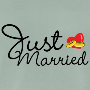 Just Married Rings Heart - Herre premium T-shirt