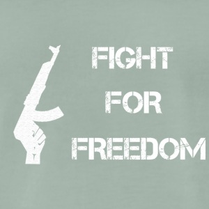 Fight for Freedom -WHITE - Men's Premium T-Shirt