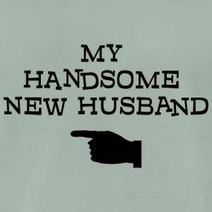Just Married My Handsome New Husband - Men's Premium T-Shirt