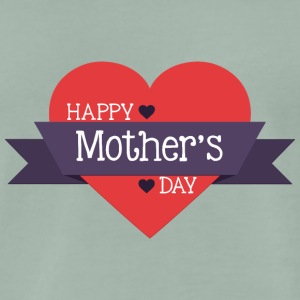 happy mother s day red heart - Men's Premium T-Shirt