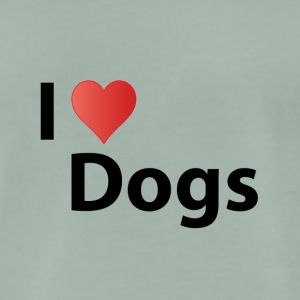 i love dogs - T-shirt Premium Homme