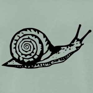 Snail black and withe - Men's Premium T-Shirt