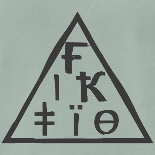 Fiktio Logo Harmaa - Miesten premium t-paita