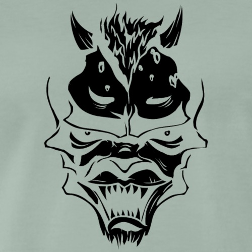 demon face - Men's Premium T-Shirt