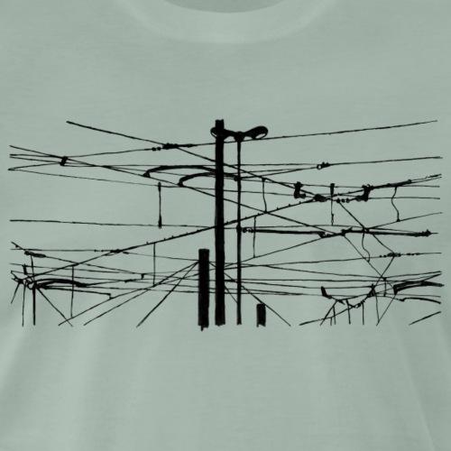 Draht, Hochleitungen - Männer Premium T-Shirt