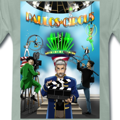 Paulos Circus Movie Set Poster - Men's Premium T-Shirt