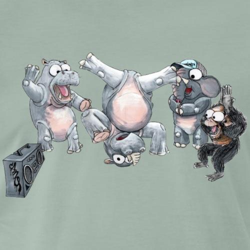 Rhino Headspin - Herre premium T-shirt