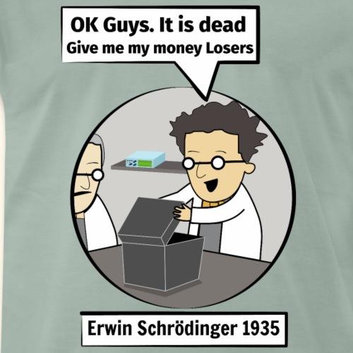 Erwin schredinger car experiment Artboard 1 Artboa - Men's Premium T-Shirt