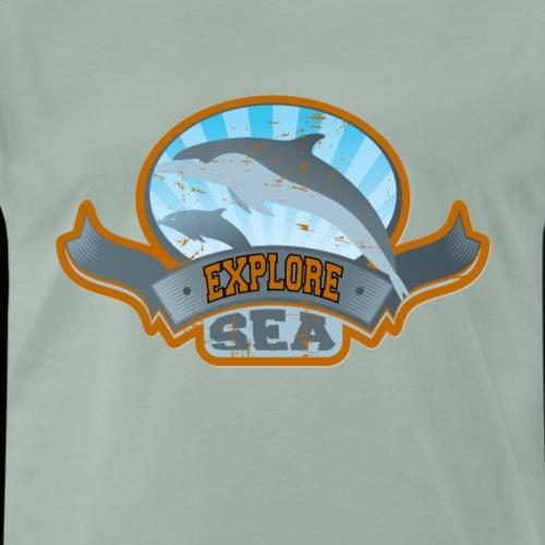 Explore Sea Ocean Orca Geschenk - Männer Premium T-Shirt
