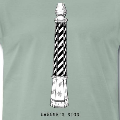 Vintage Barber´s Sign Old School Minimalistisch - Männer Premium T-Shirt