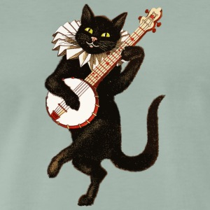 Dancing Cat - Herre premium T-shirt