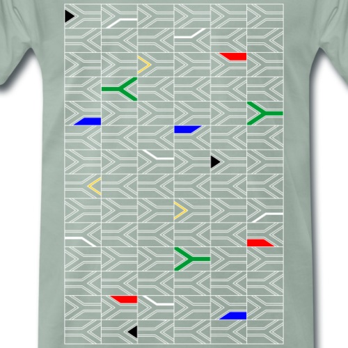 SOUTH AFRICA (white lines) - Männer Premium T-Shirt