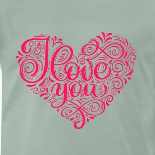 Ich liebe Dich mit Herz - Männer Premium T-Shirt