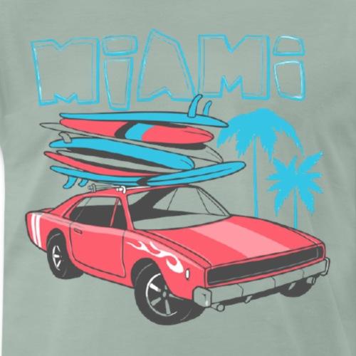 Miami Surf Auto - Männer Premium T-Shirt