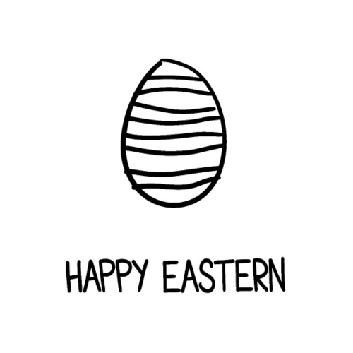 Ostern frohe Ostern Ostereiersuche Osterhase Ei - Männer Premium T-Shirt