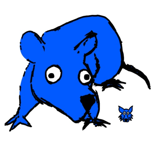 blue mouse - Maglietta Premium da uomo