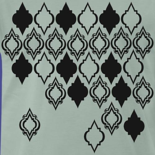 Schwarzes Orient Muster - Männer Premium T-Shirt