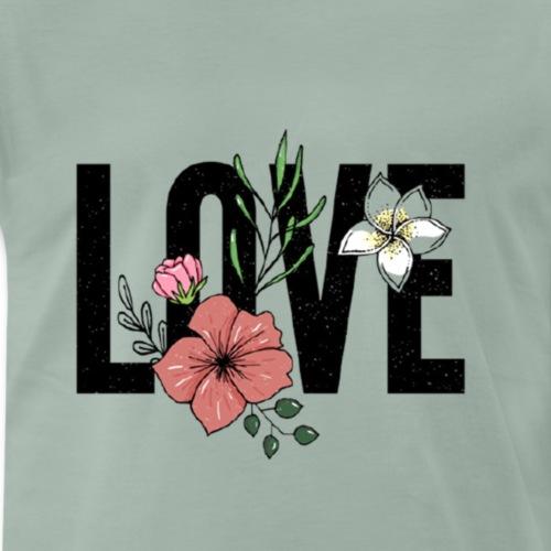 Love mit Rose - Männer Premium T-Shirt
