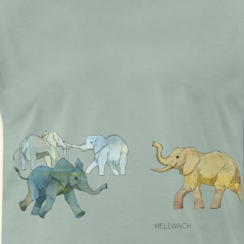 Elefanten - Männer Premium T-Shirt