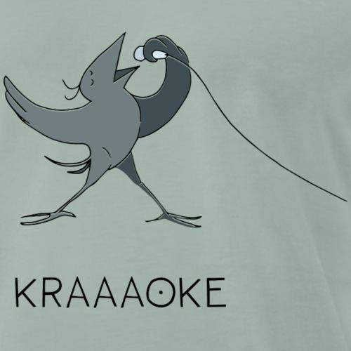 Krähe_KRAAAOKE - Männer Premium T-Shirt