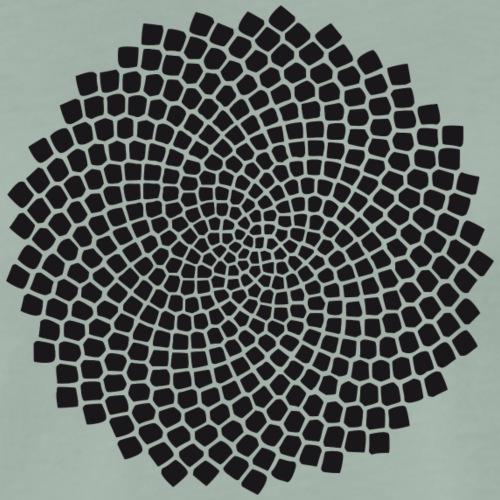 Kieselalge - heilige Geometrie - Fibonacci Spirale - Männer Premium T-Shirt
