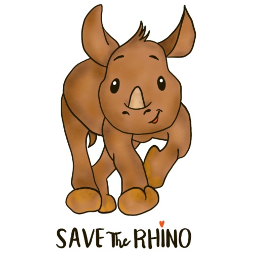 Save the Rhino - Men's Premium T-Shirt
