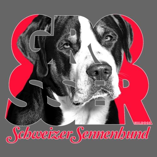 Grosser Schweizer Sennenhund Red - Miesten premium t-paita