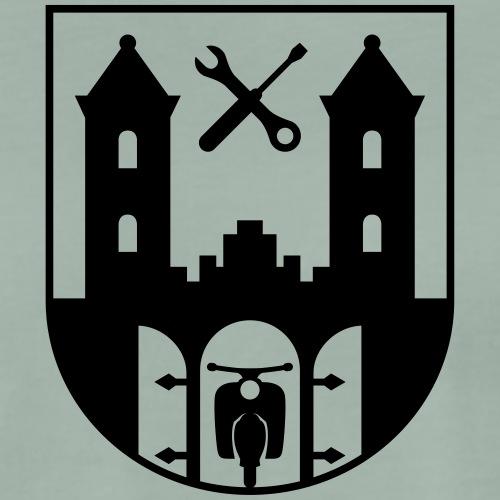 Simson Schwalbe - Suhl Coat of Arms (1c) - Men's Premium T-Shirt