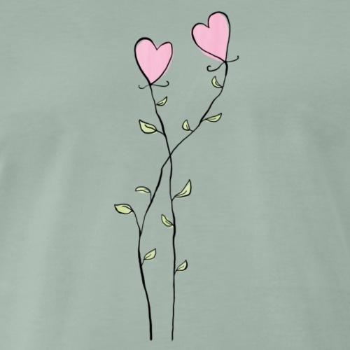 Herzblumen - Männer Premium T-Shirt