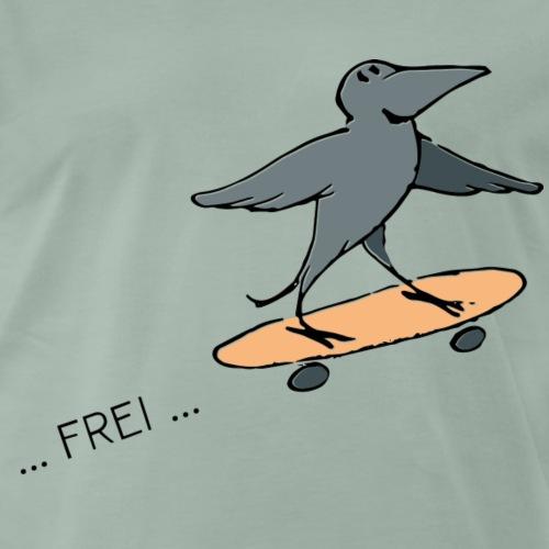 Krähe frei!! - Männer Premium T-Shirt